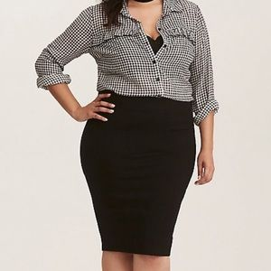 TORRID Stretch Pencil Skirt Black Knit NEW 2 18/20